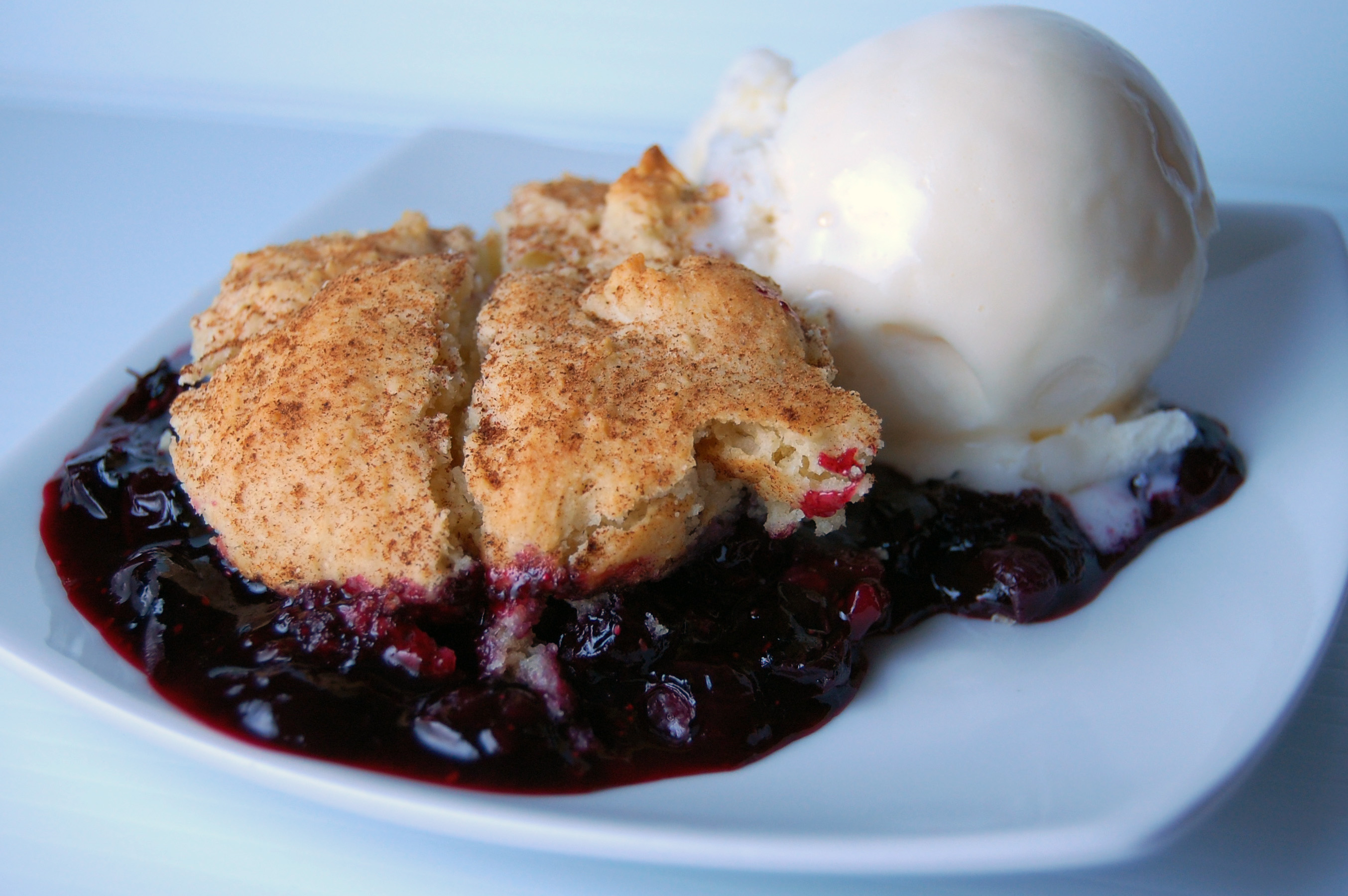 Blueberry-Lemon Cobbler