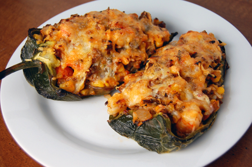 Chorizo Shrimp Poblanos-top