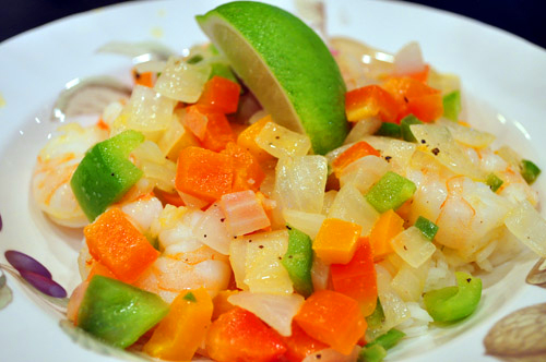 Throwback Thursday: Caribbean Shrimp w/ Peppers & Lime