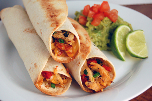 Baked Chicken Roasted Red Pepper Taquitos Savour The Senses