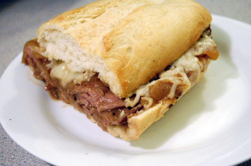 Throwback Thursday: French Onion Cheesesteak Sandwich