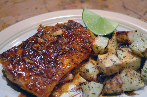 Throwback Thursday: Sweet & Spicy Salmon w/ Roasted Potatoes