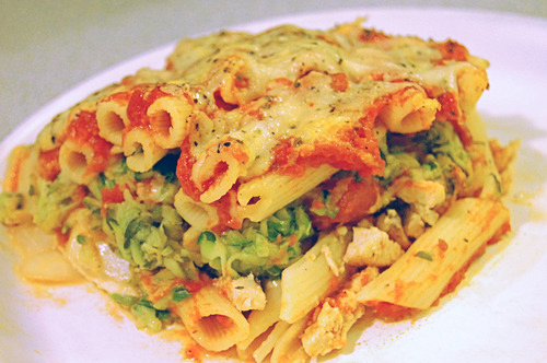 Throwback Thursday: Chicken & Zucchini Baked Ziti