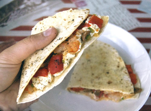 Shrimp & Goat Cheese Quesadillas » Savour the Senses
