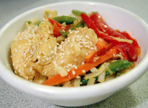 Throwback Thursday: Sesame Chicken Chow Mein