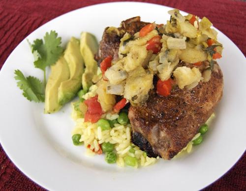 Pork chops flambe recipe