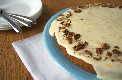 Spaghetti Squash Cake w/ Cream Cheese Glaze + GIVEAWAY! (closed)