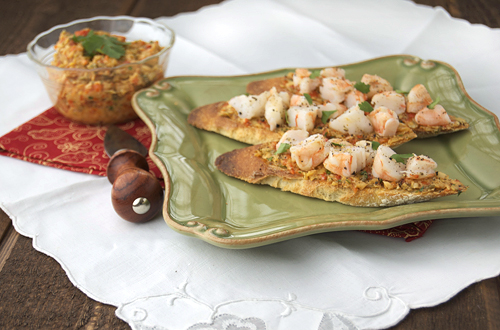 Shrimp Crostini w/ Artichoke Tapenade- SRC Post