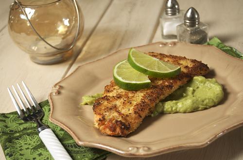 Crispy Baked Salmon w/ Avocado Remoulade