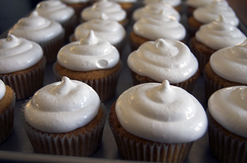 Sweet Potato Cake With Toasted Marshmallow Frosting Recipe ...