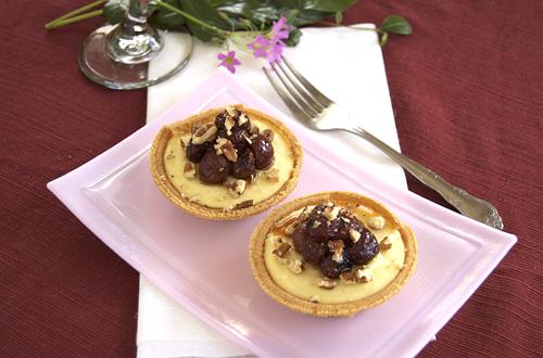 Goat Cheese Cheesecake goat cheese sweet potato cheesecakes w/ roasted grapes – savour