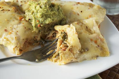 Chicken Spinach Enchiladas Verdes – Savour the Senses