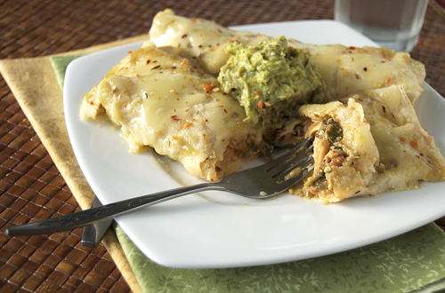 Chicken Spinach Enchiladas Verdes