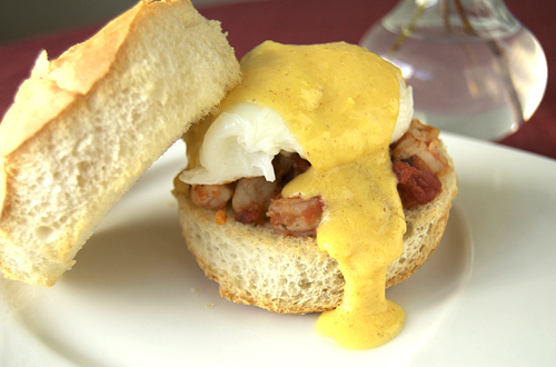 Shrimp Eggs Benedict » Savour the Senses