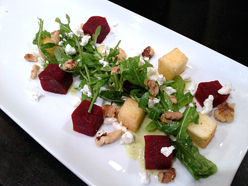 Beet & Apple Salad w/ Honey Cider Vinaigrette