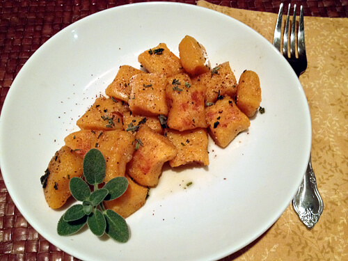 Sweet Potato Gnocchi w/ Sage Brown Butter