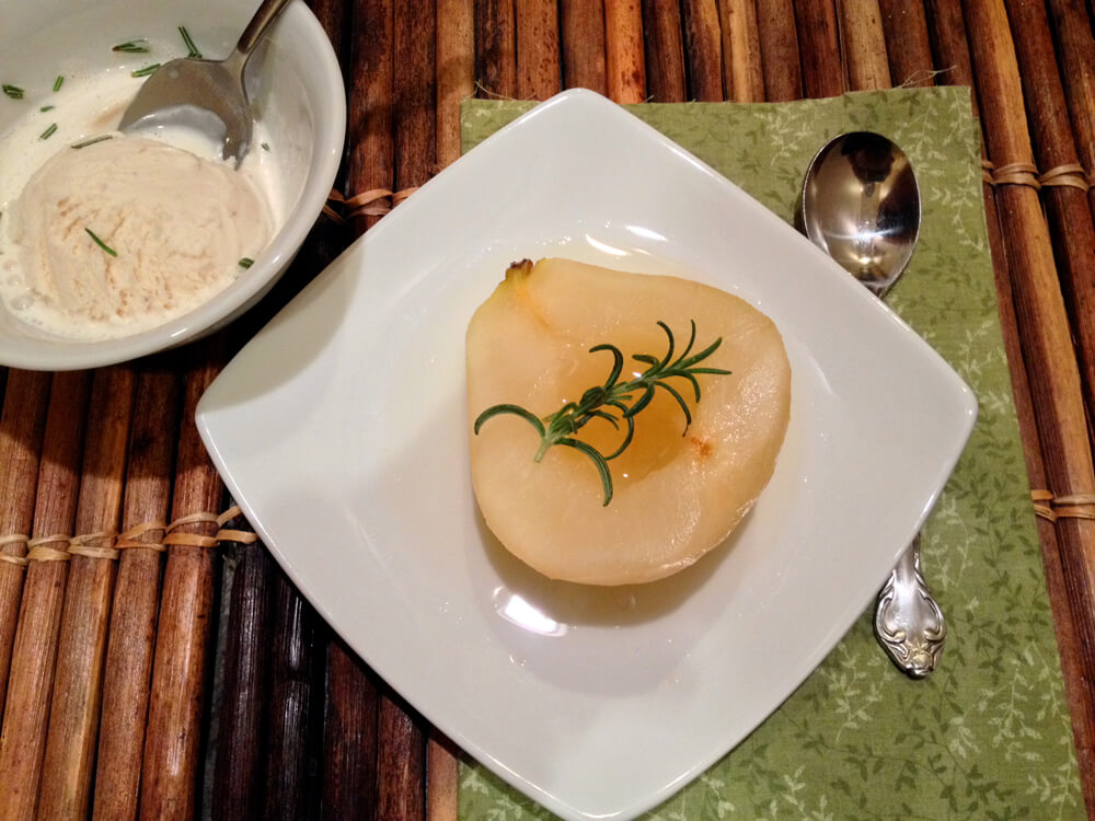 Honey Rosemary Pears