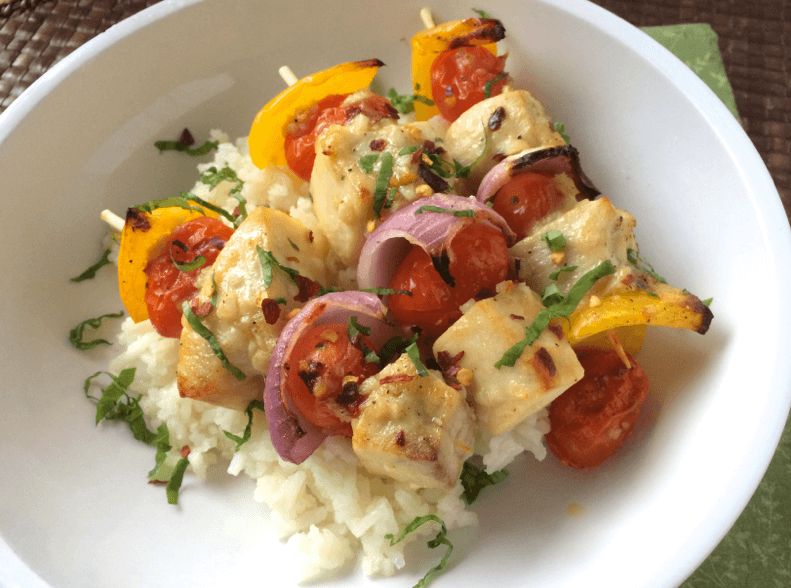 Lemon-Basil-Swordfish-Skewers
