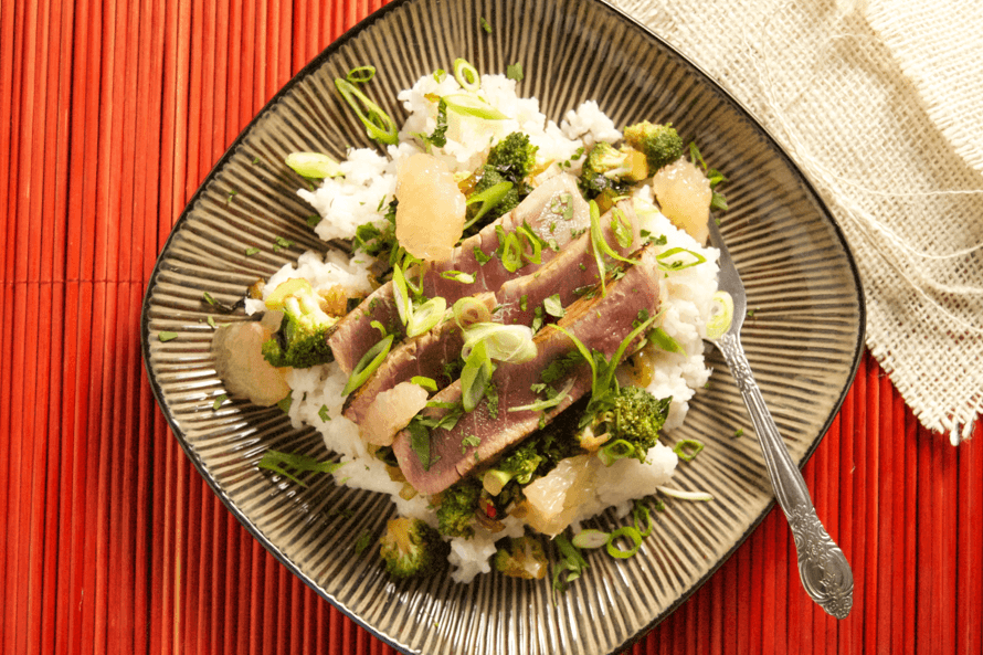 Ginger Seared Tuna Coconut Rice