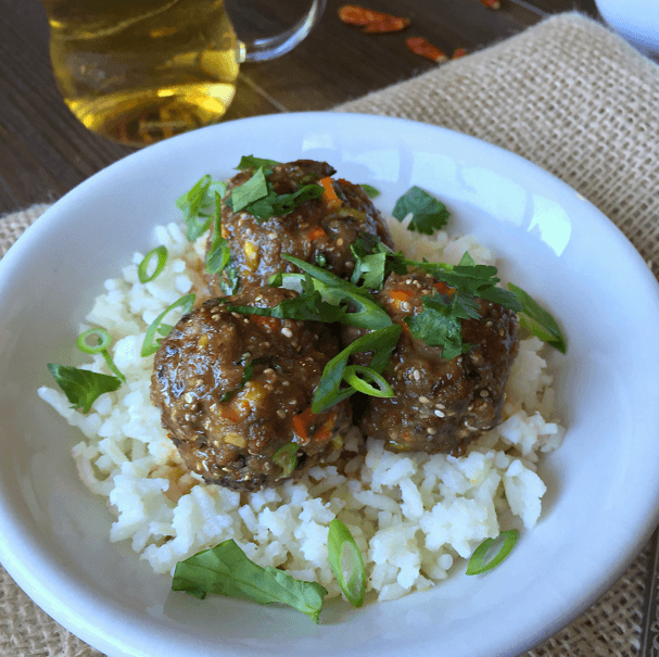 Coconut Thai Ginger Meatballs