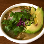Pollo Posole Verde {Green Chicken Hominy Stew}