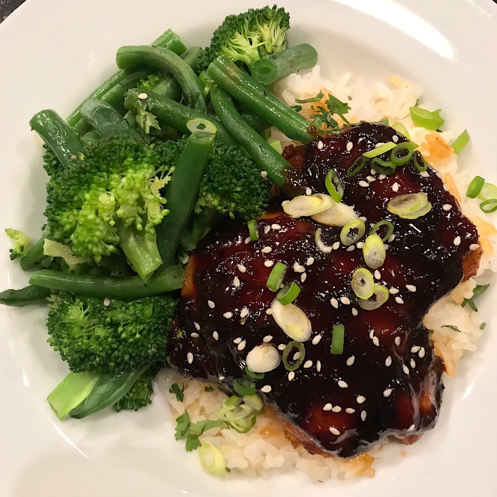 instant pot sticky chicken recipe in just 15 minutes