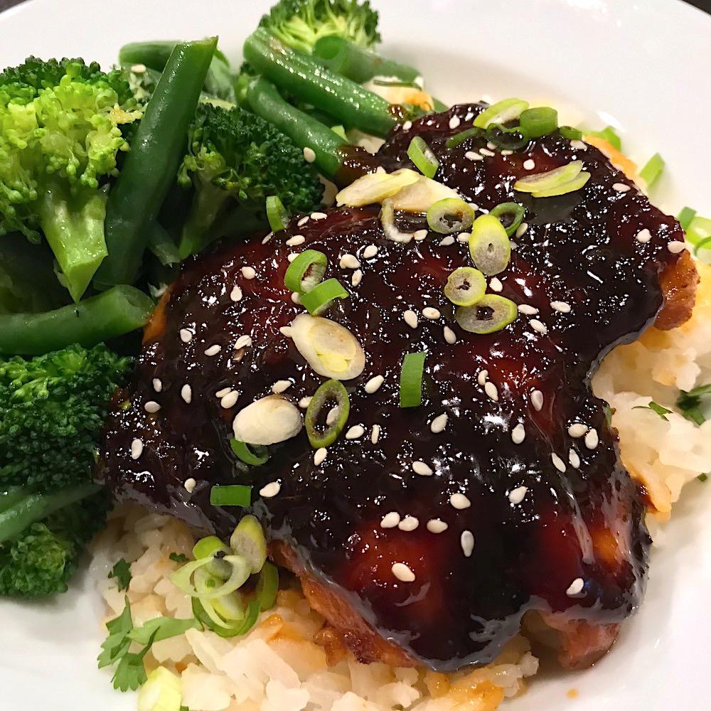 sticky korean chicken recipe